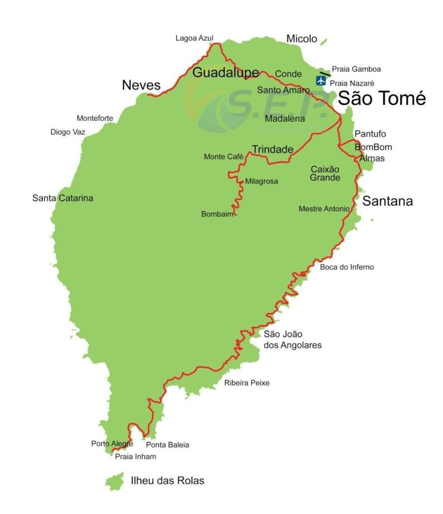 Parcourir l'île de de Sao Tomé du nord au sud et d'est en ouest en séjournant dans de petites structures rurales