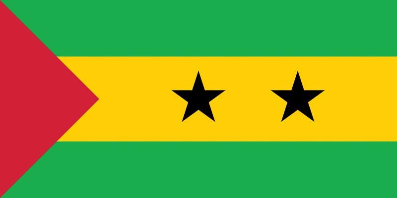 Drapeau de l'Archipel de Sao Tomé-et-Principe, Afrique