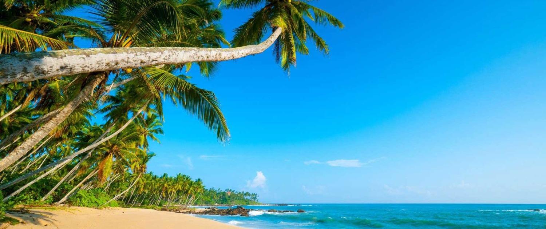 Multitude de petites plages aux eaux turquoises et au sable blanc tout autour de l'îlot de Rolas, Sao Tomé-et-Principe