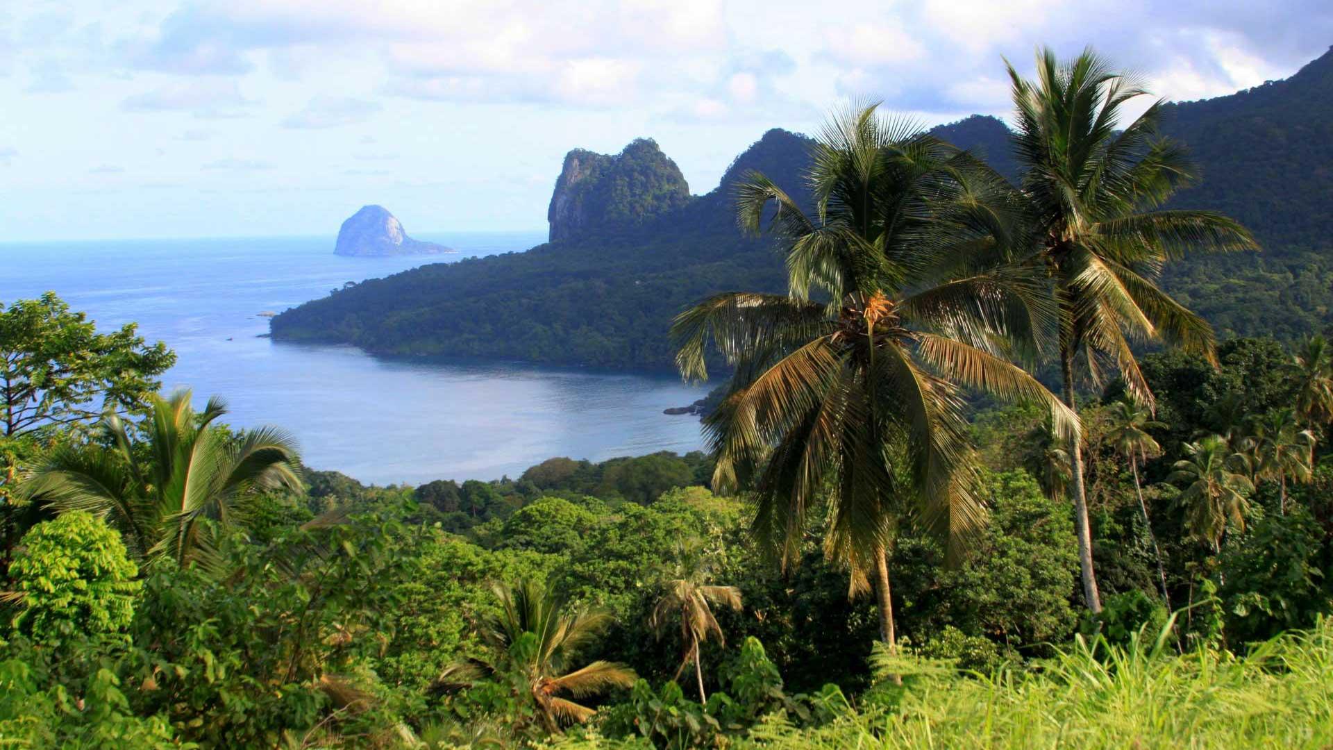 Randonnée et 4x4 sur l'île de Sao Tomé: Roça Bombaim, forêts primaires et secondaires, Roça Agua Izé, Boca do Inferno